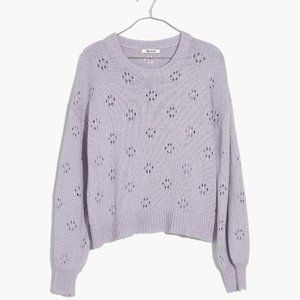 NEW Madewell Floral Pullover Lilac Sweater XS